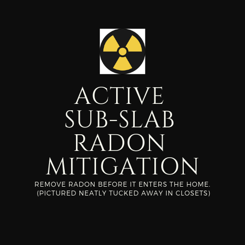 Active Depressurization Sub-slab Mitigation Sign
