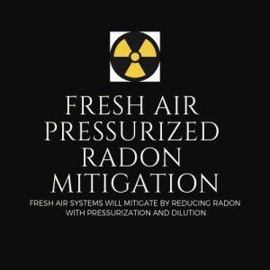 Fresh Air Radon Mitigation Method